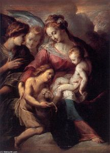 Giulio Cesare Procaccini - The Virgin and Child with the Infant St John the Baptist and Attendant Angels