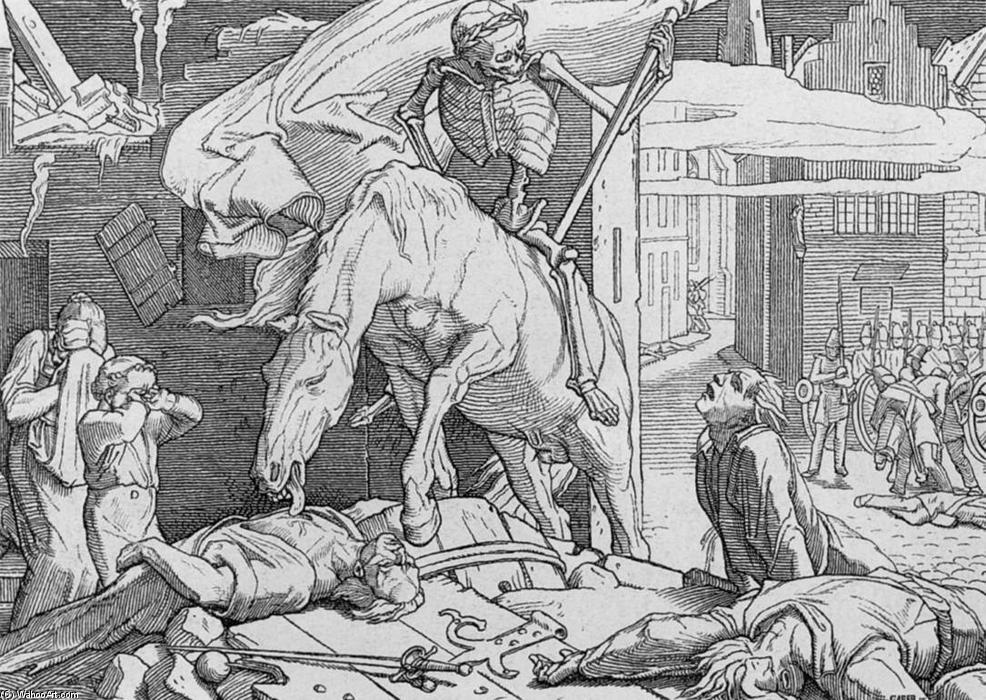 Death on the Barricades, 1849 by Alfred Rethel (1816-1859, Germany) | Reproductions Alfred Rethel | WahooArt.com