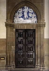 Luca Della Robbia - North Sacristy Doors with the Resurrection