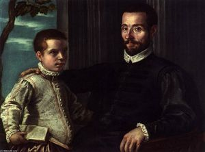 Domenico Robusti - Portrait of a Nobleman with his Son