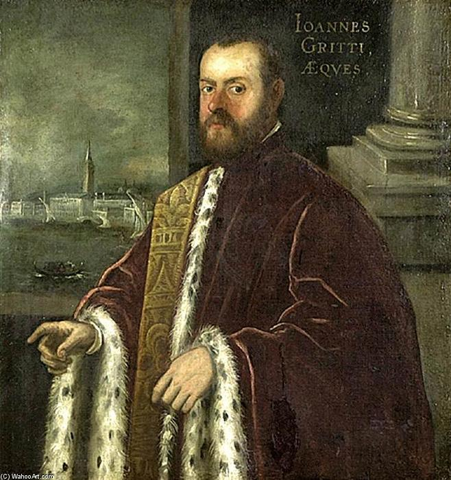 Portrait of Joannes Gritti by Domenico Robusti (1560-1635, Italy) | Art Reproduction | WahooArt.com