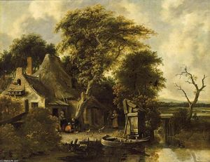 Salomon Rombouts - Wooded Landscape