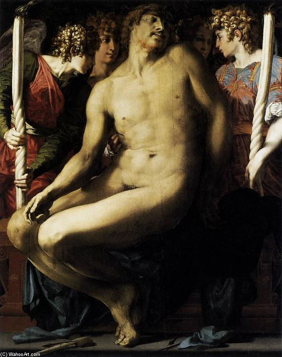 Order Museum Quality Copies | Dead Christ with Angels, 1525 by Rosso Fiorentino (1495-1540, Italy) | WahooArt.com