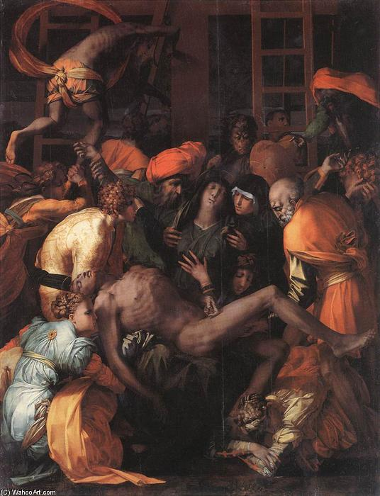 Deposition from the Cross, 1528 by Rosso Fiorentino (1495-1540, Italy) | Museum Art Reproductions Rosso Fiorentino | WahooArt.com