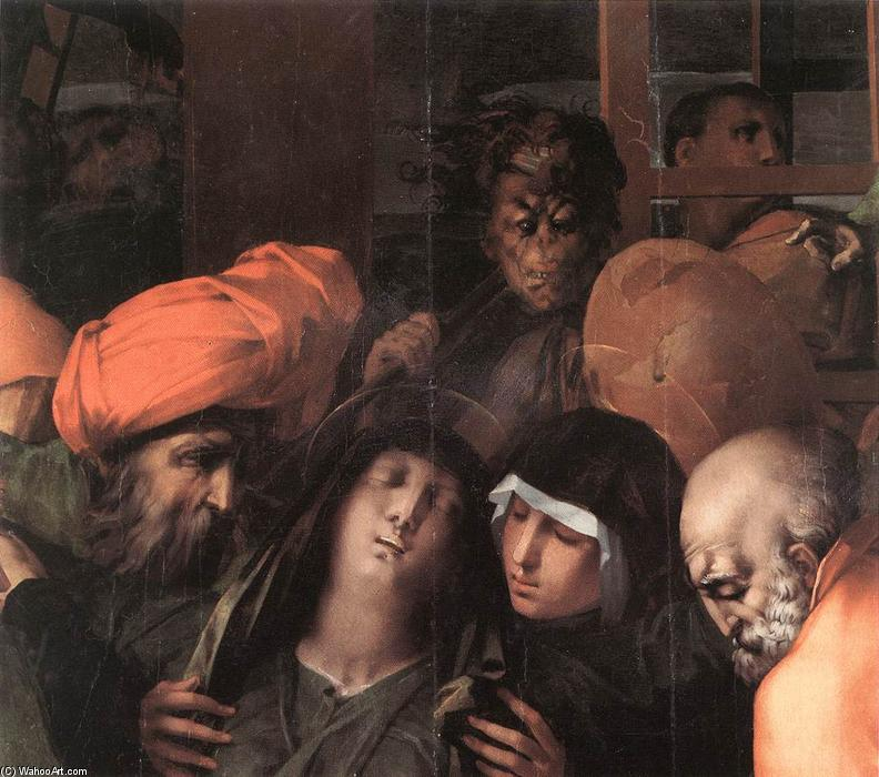 Deposition from the Cross (detail), 1528 by Rosso Fiorentino (1495-1540, Italy) | Museum Quality Reproductions | WahooArt.com