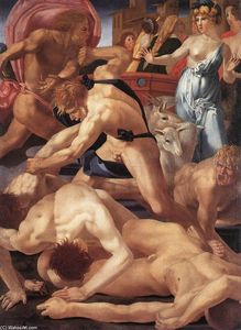 Rosso Fiorentino - Moses Defending the Daughters of Jethro