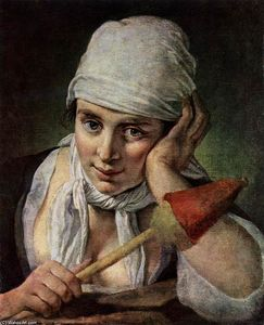 Pietro Antonio Rotari - Young Girl with Distaff