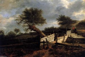 Isaack Van Ruisdael - The Plank Fence