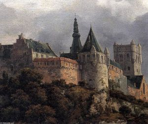 Jacob Isaakszoon Van Ruisdael (Ruysdael) - Bentheim Castle (detail)