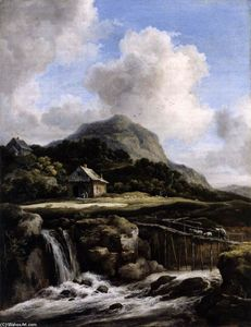 Jacob Isaakszoon Van Ruisdael (Ruysdael) - Mountain Torrent