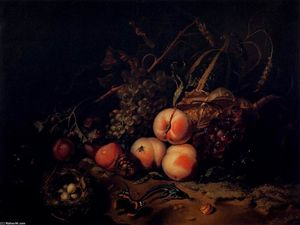 Rachel Ruysch - Still-Life with Fruit and Insects