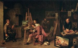 David The Younger Ryckaert - Painter's Studio