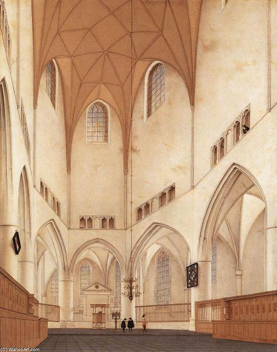 Interior of the Choir of Sint-Bavokerk at Haarlem, 1660 by Pieter Jansz Saenredam (1597-1665, Netherlands) | Art Reproduction | WahooArt.com