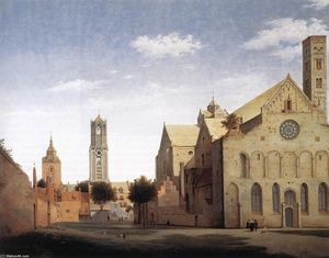 Pieter Jansz Saenredam - St Mary-s Square and St Mary-s Church at Utrecht