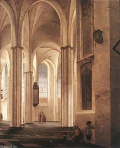 Pieter Jansz Saenredam - The Interior of the Buurkerk at Utrecht