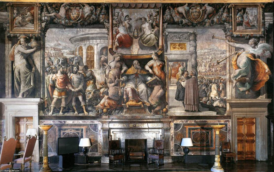 History of Paul III, 1558 by Cecchino Del Salviati (1510-1563, Italy) | Famous Paintings Reproductions | WahooArt.com