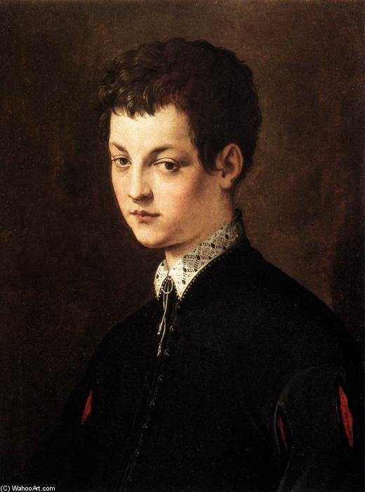 Portrait of a Young Man, 1543 by Cecchino Del Salviati (1510-1563, Italy) | Museum Quality Reproductions | WahooArt.com