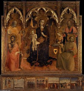 Sassetta (Stefano Di Giovanni) - The Virgin and Child with Saints