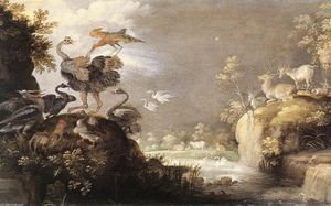 Roelant Savery - Landscape with Animals