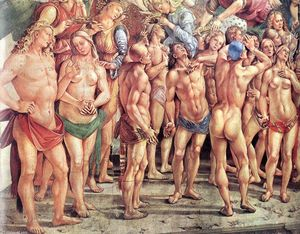 Luca Signorelli - The Elect (detail)