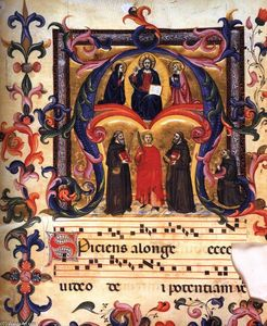 Don Simone Camaldolese - Initial ''A'' from the Antiphonary (Choir Book 39)