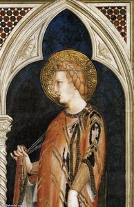 Simone Martini - St Elizabeth of Hungary (detail)