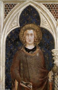 Simone Martini - St Louis of France (detail)