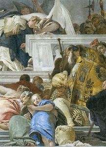 Giovanni Battista Tiepolo - The Institution of the Rosary (detail)