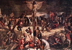 Tintoretto (Jacopo Comin) - Crucifixion (detail)