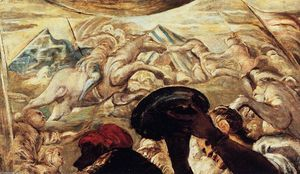 Tintoretto (Jacopo Comin) - Moses Drawing Water from the Rock (detail)