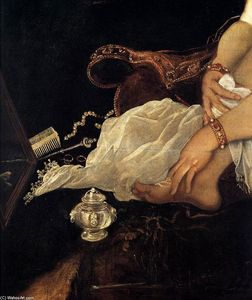 Tintoretto (Jacopo Comin) - Susanna and the Elders (detail)