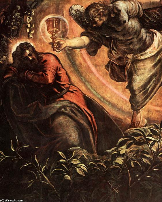 The Prayer in the Garden (detail), 1578 by Tintoretto (Jacopo Comin) (1518-1594, Italy) | Art Reproduction | WahooArt.com