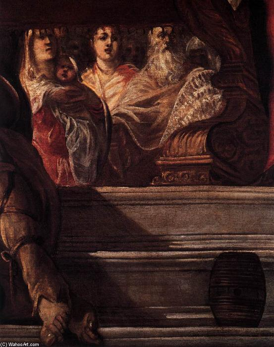 The Presentation of Christ in the Temple (detail), 1550 by Tintoretto (Jacopo Comin) (1518-1594, Italy) | Oil Painting | WahooArt.com
