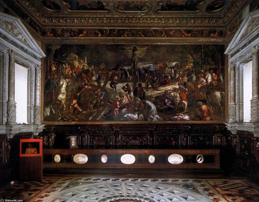 The Sala dell`Albergo, 1564 by Tintoretto (Jacopo Comin) (1518-1594, Italy) | Museum Quality Reproductions | WahooArt.com