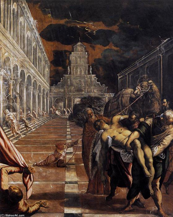 The Stealing of the Dead Body of St Mark, 1566 by Tintoretto (Jacopo Comin) (1518-1594, Italy) | Art Reproduction | WahooArt.com