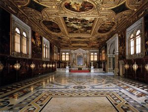 Tintoretto (Jacopo Comin) - View of the Sala Superiore