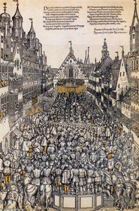 Hans Tirol - Investiture of the Elector of Saxony in the Weinmarkt, Augsburg