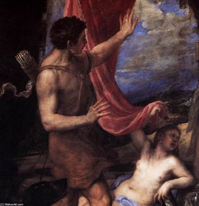 Tiziano Vecellio (Titian) - Diana and Actaeon (detail)