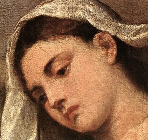 Tiziano Vecellio (Titian) - Madonna with Saints and Members of the Pesaro Family (detail)