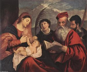Tiziano Vecellio (Titian) - Mary with the Child and Saints