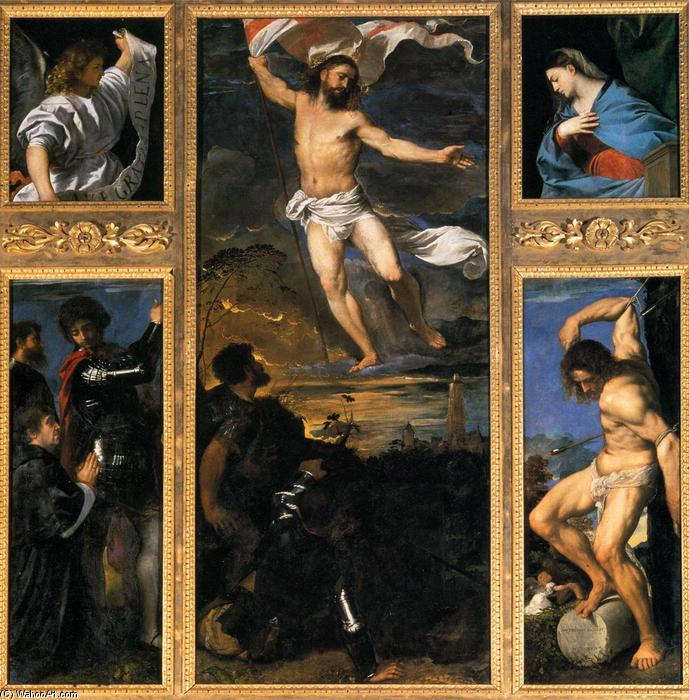 Order Famous Paintings Reproductions : Polyptych of the Resurrection, 1520 by Tiziano Vecellio (Titian) (1490-1576, Italy) | WahooArt.com