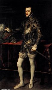 Tiziano Vecellio (Titian) - Portrait of Philip II in Armour