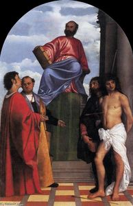 Tiziano Vecellio (Titian) - St Mark Enthroned with Saints