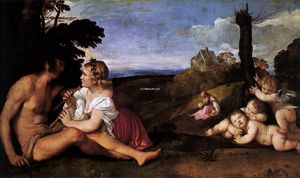 Tiziano Vecellio (Titian) - The Three Ages of Man