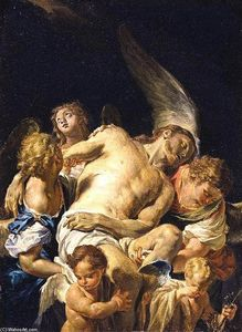 Francesco Trevisani - Dead Christ Supported by Angels