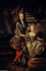 Jean François De Troy - Portrait of Louis XV of France and Maria Anna Victoria of Spain