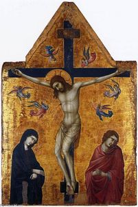 Ugolino Di Nerio - Crucifixion with the Virgin and St John the Evangelist