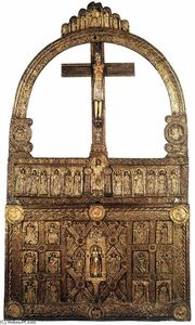 Danish Unknown Goldsmith - The --Golden Altar-- of Lisbjerg