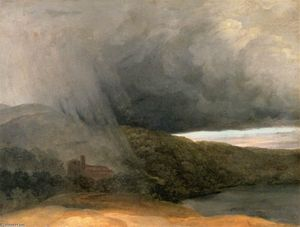 Pierre Henri De Valenciennes - Storm by a Lake