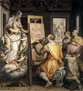 Giorgio Vasari - St Luke Painting the Virgin